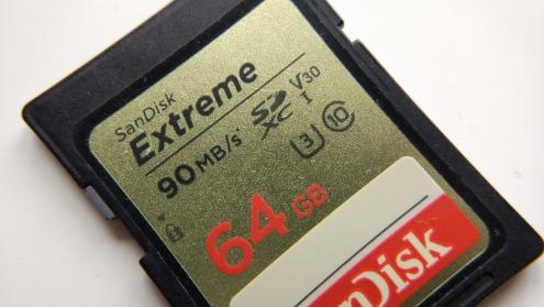 Macro lens SD card